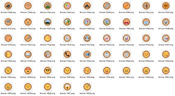 50 Emoji Badges in Gold, Silver, and Bronze (150 total)