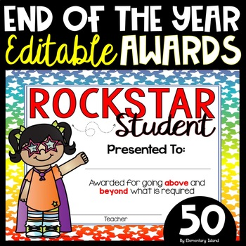50 End of the Year Awards and Editable
