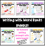 50 Engaging Themed Writing Prompts with Word Banks & Pictures!