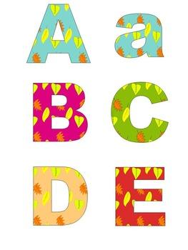 Classroom Decor - Fall - Alphabet - Numbers - Frames - Clip Art