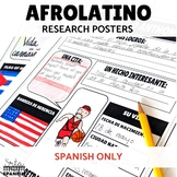 Afro-Latinos Research Poster Project SPANISH ONLY