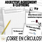 Adjective Agreement in Spanish ¡Corre en Círculos! Activity