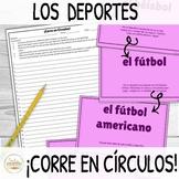 Deportes Sports in Spanish ¡Corre en Círculos! Activity
