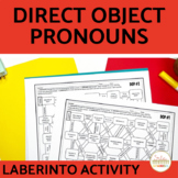 Direct Object Pronoun Spanish Maze Practice Activity with