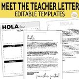 EDITABLE Meet the Teacher Letter for Secondary Spanish Class