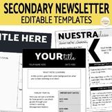 Secondary Newsletter EDITABLE Templates