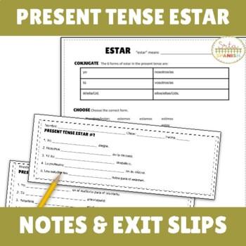 ESTAR Present Tense Intro, Practice, Assess