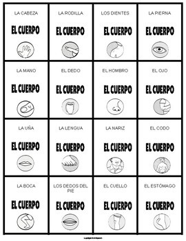 El Cuerpo Vocabulary Games