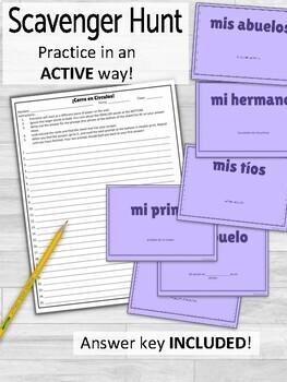 Familia Family in Spanish ¡Corre en Círculos! Activity