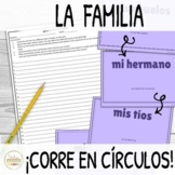 Familia Family in Spanish ¡Corre en Círculos! Activity