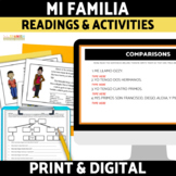 Spanish Family Familia Reading and Activities