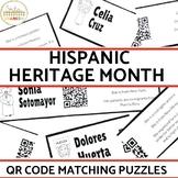 Hispanic Heritage Month QR Code Matching Activity