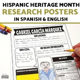 Hispanic Heritage Month Research Poster Project SPANISH AND ENGLISH