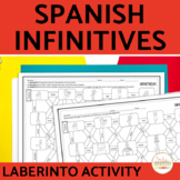 Spanish Infinitives Vocabulary Maze Practice Activity with DIGITAL Option