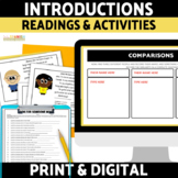Introductions and Personal Descriptions in Spanish Reading