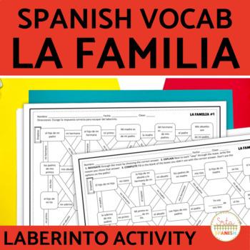 La Familia Family in Spanish Laberinto Practice Activity
