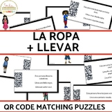La Ropa and Llevar QR Code Matching Activity