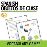 Los Objetos de Clase School Supplies Vocabulary Games