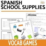 Los Objetos de Clase School Supplies Vocabulary Worksheets