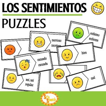 Los Sentimientos Spanish Feelings Puzzles