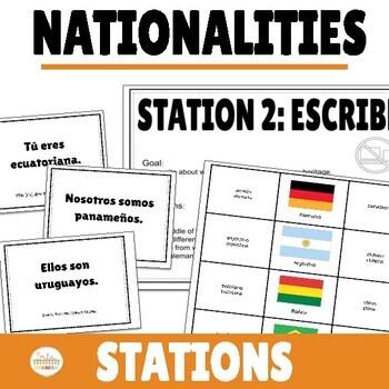 Nacionalidades Nationalities in Spanish Station Activities