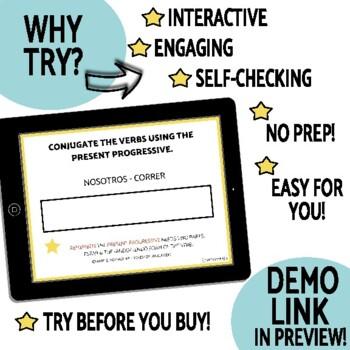 Present Progressive DIGITAL Task Cards