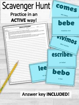 Present Regular ER IR Verbs ¡Corre en Círculos! Activity