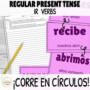 Present Regular IR Verbs ¡Corre en Círculos! Activity