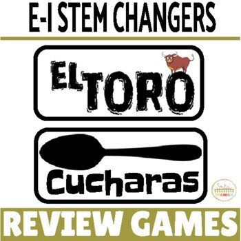 Present Tense E-I Stem Changing Verbs Review Game Pack