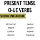 Present Tense O-UE Verbs Review Game Pack