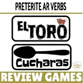 Preterite AR Verbs REGULAR Verbs ONLY Review Game Pack