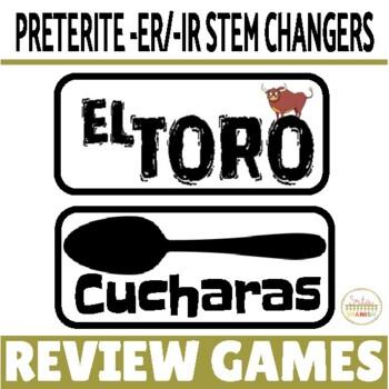 Preterite ER IR STEM CHANGING Verbs Review Game Pack
