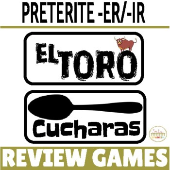 Preterite ER IR Verbs REGULAR Verbs ONLY Review Game Pack