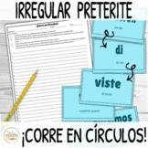 Irregular Preterite Verbs ¡Corre en Círculos! Activity wit