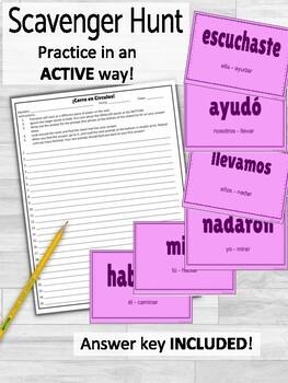 Preterite Regular AR Verbs ¡Corre en Círculos! Activity