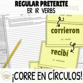 Preterite ER and IR Verbs ¡Corre en Círculos! Activity