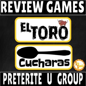 Preterite U GROUP Verbs Review Game Pack