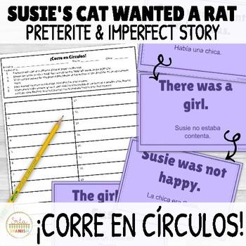 Preterite and Imperfect Story ¡Corre en Círculos! Activity