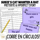 Preterite and Imperfect Story ¡Corre en Círculos! Activity with DIGITAL Option