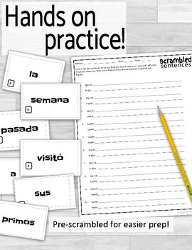Preterite vs Imperfect Scrambled Sentences
