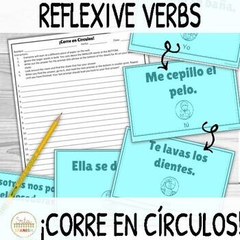 Reflexive Verbs ¡Corre en Círculos! Activity