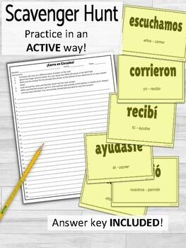 Regular Preterite Verbs ¡Corre en Círculos! Activity