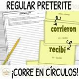 Regular Preterite Verbs ¡Corre en Círculos! Activity DIGIT