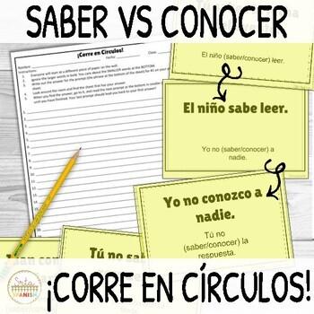 Saber vs Conocer ¡Corre en Círculos! Activity