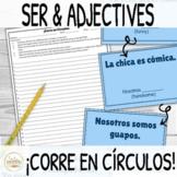 Ser and Adjectives ¡Corre en Círculos! Activity with Digit