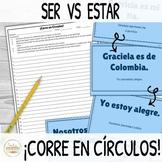 Ser vs Estar ¡Corre en Círculos! Activity with DIGITAL Options!