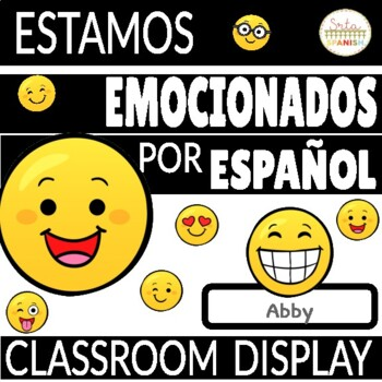 Spanish Bulletin Board for Back to School EMOJI Theme