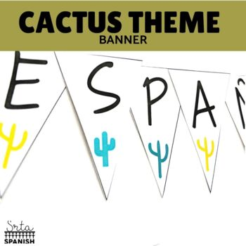Spanish Class Welcome Banner Cactus Theme