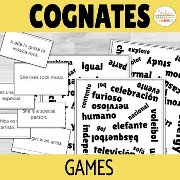 Spanish Cognates Games and Activities