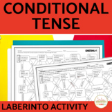 Conditional Tense Spanish Maze Practice Activity with DIGITAL Option